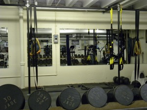 dumbbells and heavy-duty ropes implemented in McKenna's regiments