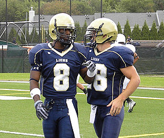 Both Gardner (right) and Yetka (left) contributed to the Lions' second-straight appropriation of its place in history, each player posting six points on plays of 25+ yards